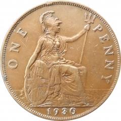 1 пенни 1930 Великобритания VF