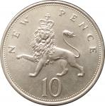 10 пенсов 1968 Великобритания XF