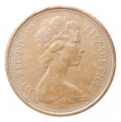 2 пенса 1971 Великобритания VF