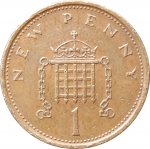 1 пенни 1973 Великобритания VF