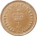 1\2 пенни 1973 Великобритания VF
