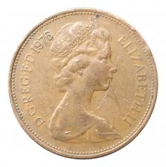 2 пенса 1976 Великобритания VF