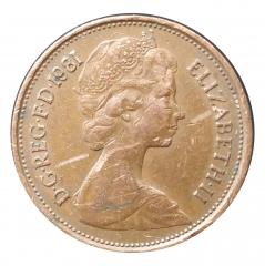 2 пенса 1981 Великобритания VF