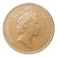 2 пенса 1985 Великобритания VF