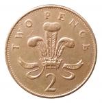 2 пенса 1992 Великобритания VF