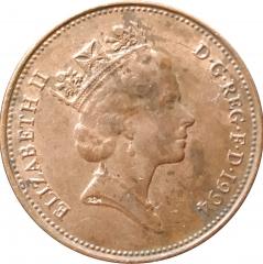 2 пенса 1994 Великобритания VF