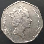 50 пенсов 1997 Великобритания XF
