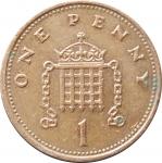 1 пенни 2000 Великобритания VF