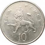 10 пенсов 2001 Великобритания XF