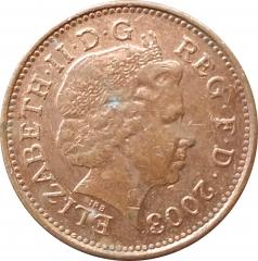 1 пенни 2003 Великобритания VF