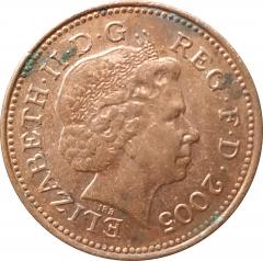 1 пенни 2005 Великобритания VF