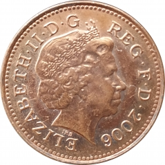 1 пенни 2006 Великобритания XF