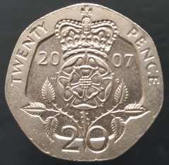 20 пенсов 2007 Великобритания XF