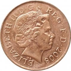 1 пенни 2008 Великобритания XF