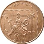 2 пенса 2008 Великобритания VF