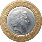 2 фунта 2015 Великобритания VF