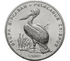 50 тенге 2010 Кудрявый пеликан UNC
