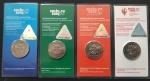 Набор из 4 монет 25 рублей Сочи цветных