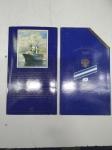 Набор монет 300 лет Российского флота 1996, 6 монет и жетон ЛМД в буклете
