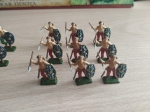 """Полный набор из 40 окрашенных 24 мм солдатиков для варгейма 1:72 """"Галльская пехота"""" от Звезды"""